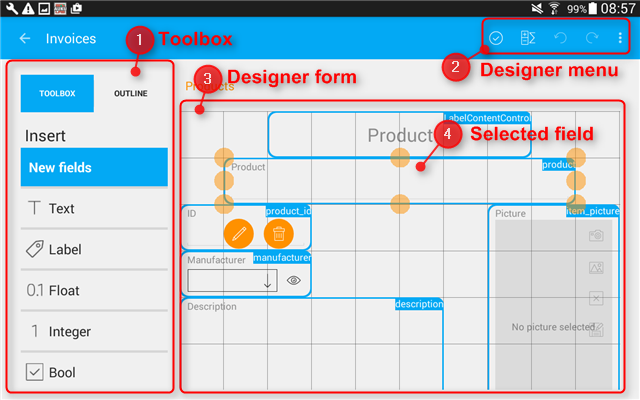 this is how designer looks on a tablet - What Is Database Designer