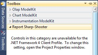 Controls are unavailable in C# project